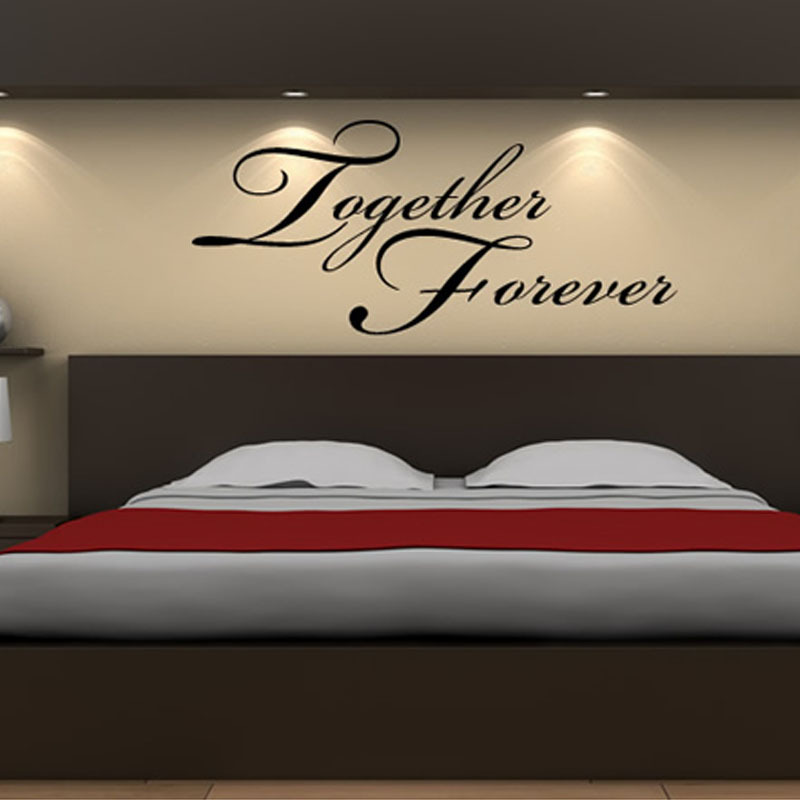 Together Forever Headboard Decor Wall Sticker Art Vinyl Removable