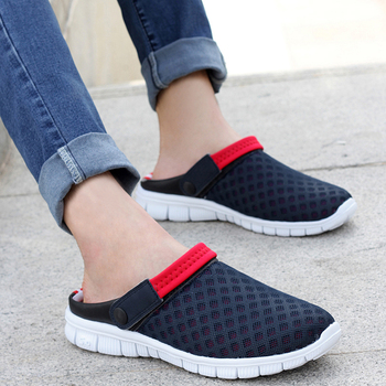 Summer men's and women's mules&clogs casual sandals shoes lovers shoes male hole slippers