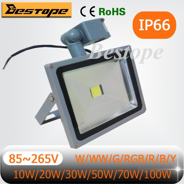 Wholesale High Power Waterproof LED Flood Light Sensor Floodlight Spotlight 10W 20W 30W 50W 70W 100W Outdoor Lights