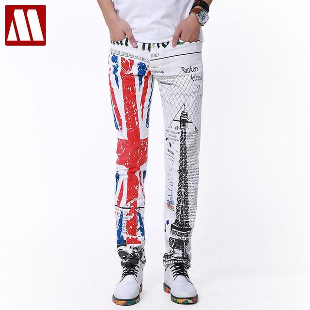 Топ панк стиль! 2016 новый яппи джинсы для штаны-мужчин досуг мужские модной ретро ...