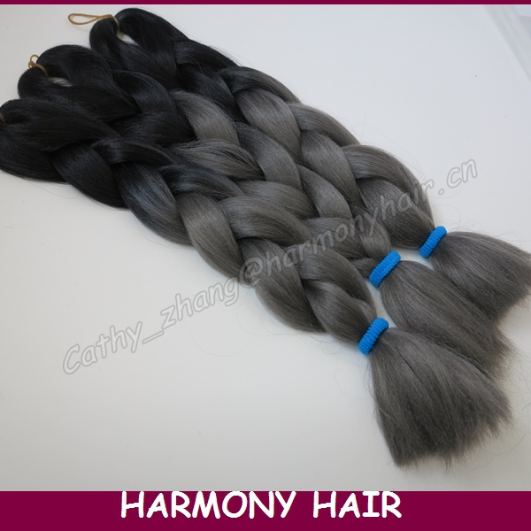 Гаджет  (4 Pieces/lot) Free Shipping 100g 20inch Ombre Two Tone Colored Kanekalon Xpression Jumbo Box Braiding Synthetic Hair None Волосы и аксессуары
