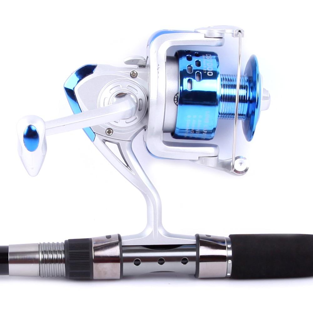 Fishing reels 1000 - 7000 Series Aluminum Spool Superior Ratio 5.2:1 Spinning Fishing Reel Spinning Reel wheels(China (Mainland))