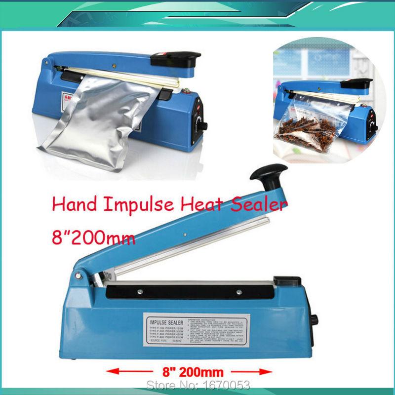 Гаджет  Free Shipping New Heat Sealing Machine Impulse Sealer Sealing Machine Poly Tubing Plastic Bag Kit None Бытовая техника