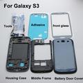 White Blue Black Full housing Cover Rahmen Akkudeckel Middle Frame Back case For Samsung Galaxy S3