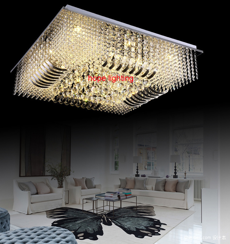 modern ceiling lighting for living room luxurious crystal