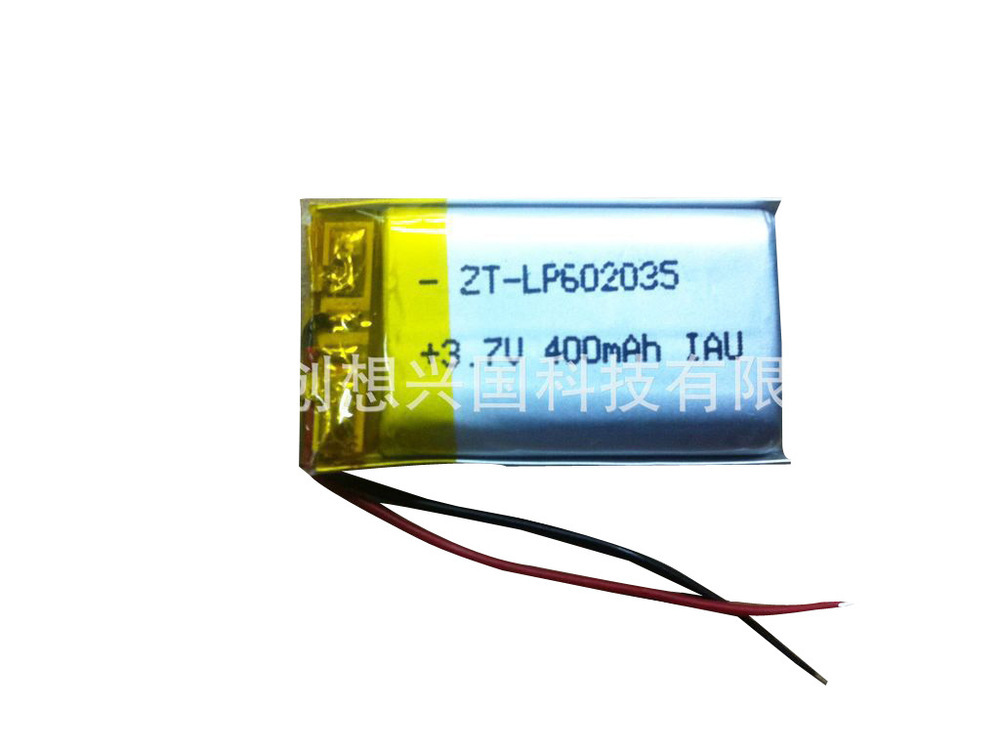 602,035 car battery 400mah lithium battery manufacturers WiFi mp3 story machine 3.7V lithium polymer battery(China (Mainland))