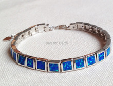 Free Shipping Fashion Square Design Blue Fire Opal Bracelet For Gift(China (Mainland))