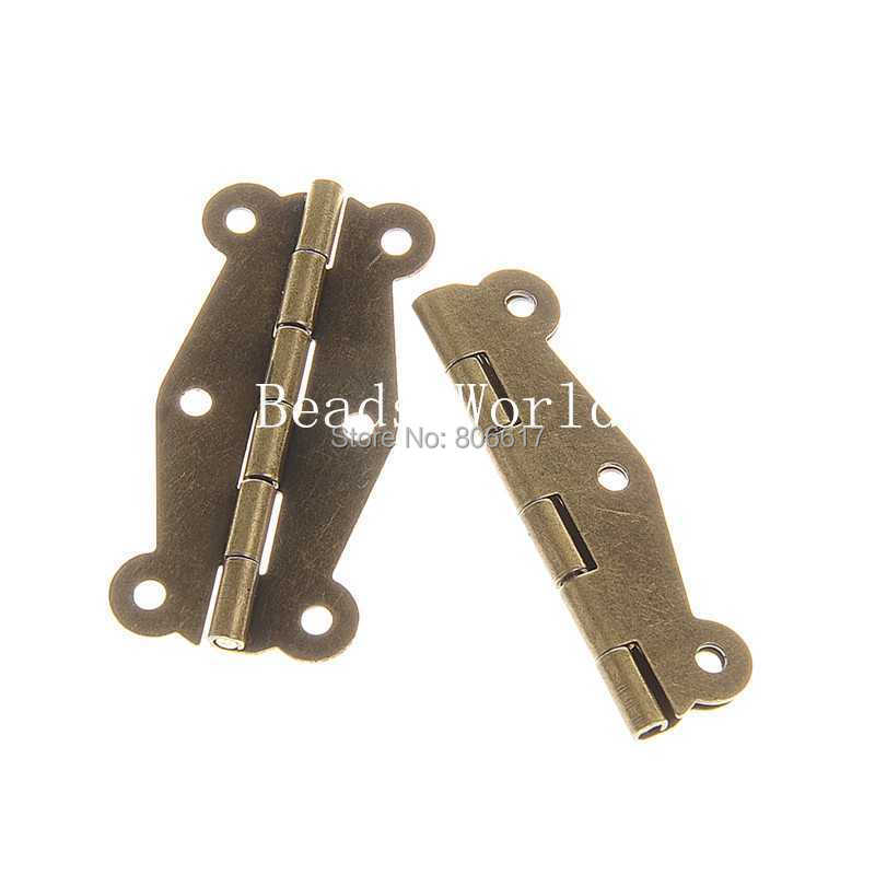 Bronze Tone Door Butt Hinges 6 Holes (rotated 0 270 degrees) 52x25mm(W04385) - Love Life Beadsworld store