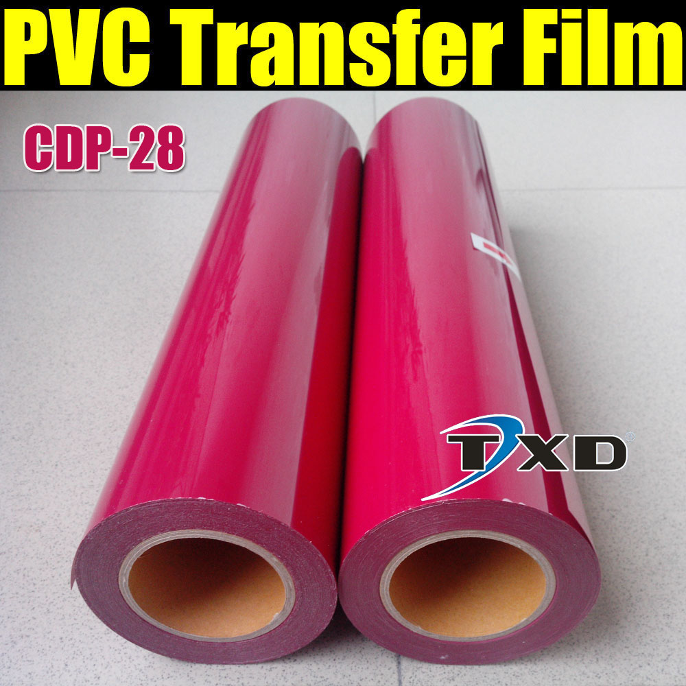 CDP-28 ROSE RED PVC Transfer film, Tshirts transfer Vinyl PVC, PVC heat transfer film for whole roll 50cmx25m(China (Mainland))