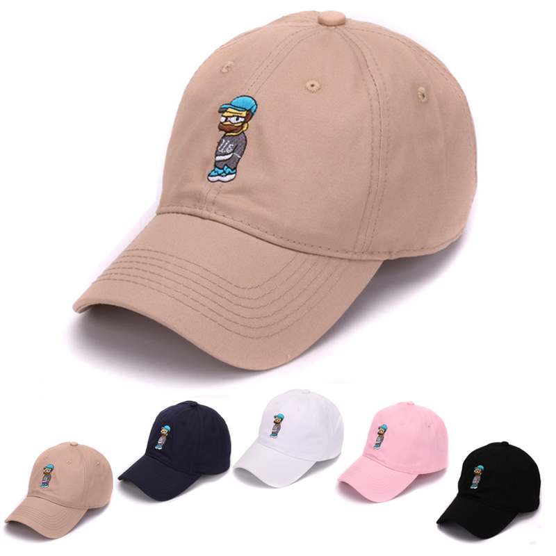 Cotton strap back hats 6 panel caps running hat simpson embroidered sport baseball cap for men and women(China (Mainland))