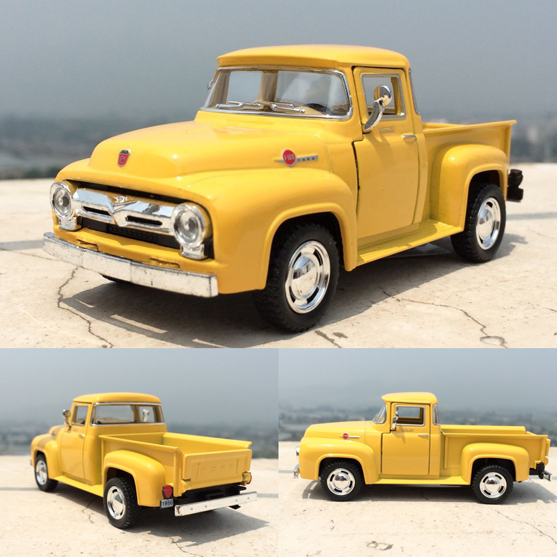 Brand New 1/38 Scale Car Toys 1956 Ford F100 Pickup Diecast Metal Pull Back Car Model Toy For Gift Kids Collection FreeShipping(China (Mainland))