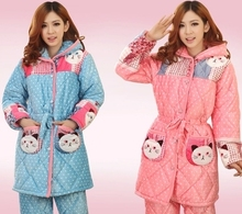 bedgown Real Girl Country The New 2014 Women Pajamas Sexy Fashion Nightgown Pajamas Quilted Jacket Coral