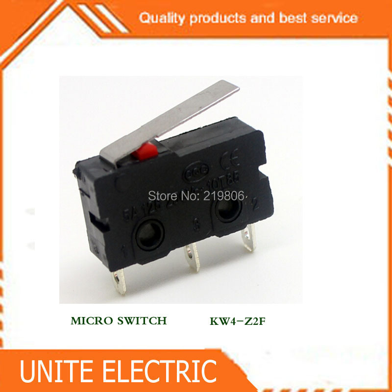 100pcs/lot Microswitches micro switch.limit switch  with solder terminals ,KW4-Z2F<br><br>Aliexpress