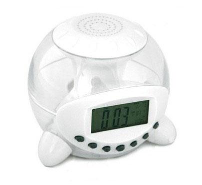 Transparent LCD Digital Electronic Alarm Clock 6 Natural Sounds 7 Color Change(China (Mainland))
