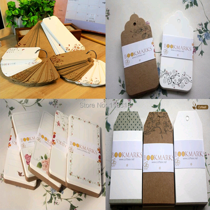Min Order is $5,(22 Styles) DIY Scrapbooking Paper Tags Kraft Crafts Wedding Decoration Postcards Labels Flowers Bookmarks(China (Mainland))