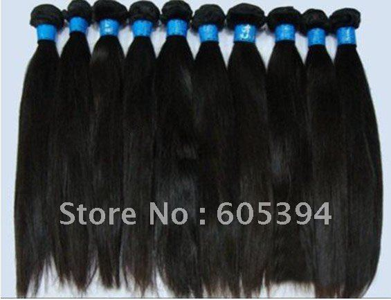 Virgin Brazilian Human hair extensions 3pcs lot natural color   silk straight  top quality   free shipping<br><br>Aliexpress