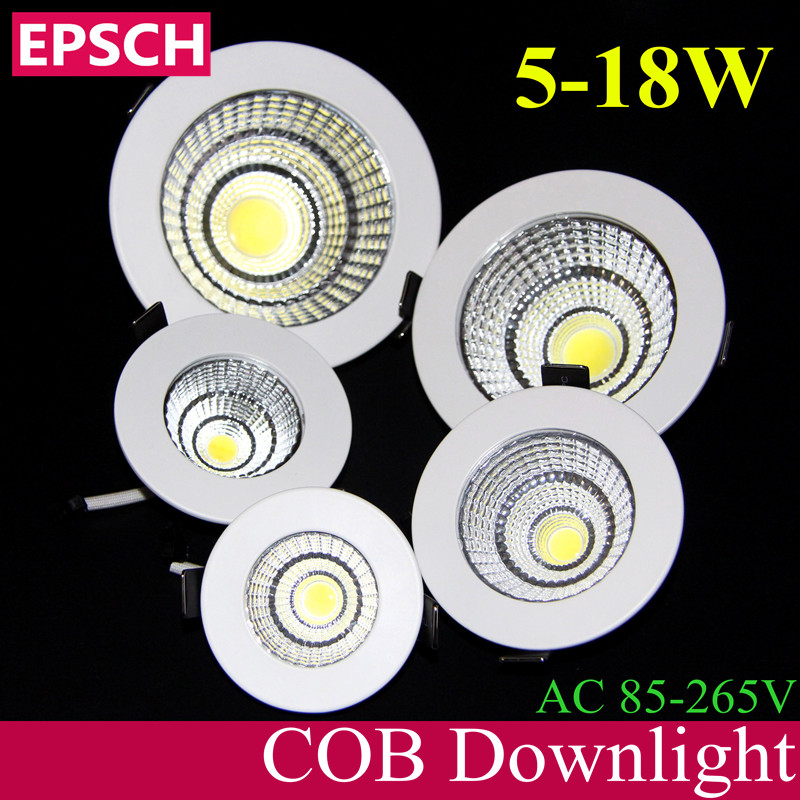 EPSCH Patent New Product Launch Recessed LED COB Downlight 5W 7W 9W 12W 15W 18W LED Spot light led Ceiling Lamp Wide AC 85-265v(China (Mainland))