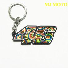 2016 New keychain Moto gp Rossi VR46 keyring Rubber motorcycle NO.46 llaveros Emblem key Ring for Valentino Rossi VR46(China (Mainland))