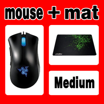 ORIGINAL Deathadder Gaming Mouse 3500dpi +Orignal Goliathus medium size free and Fast Shipping, in Stock.