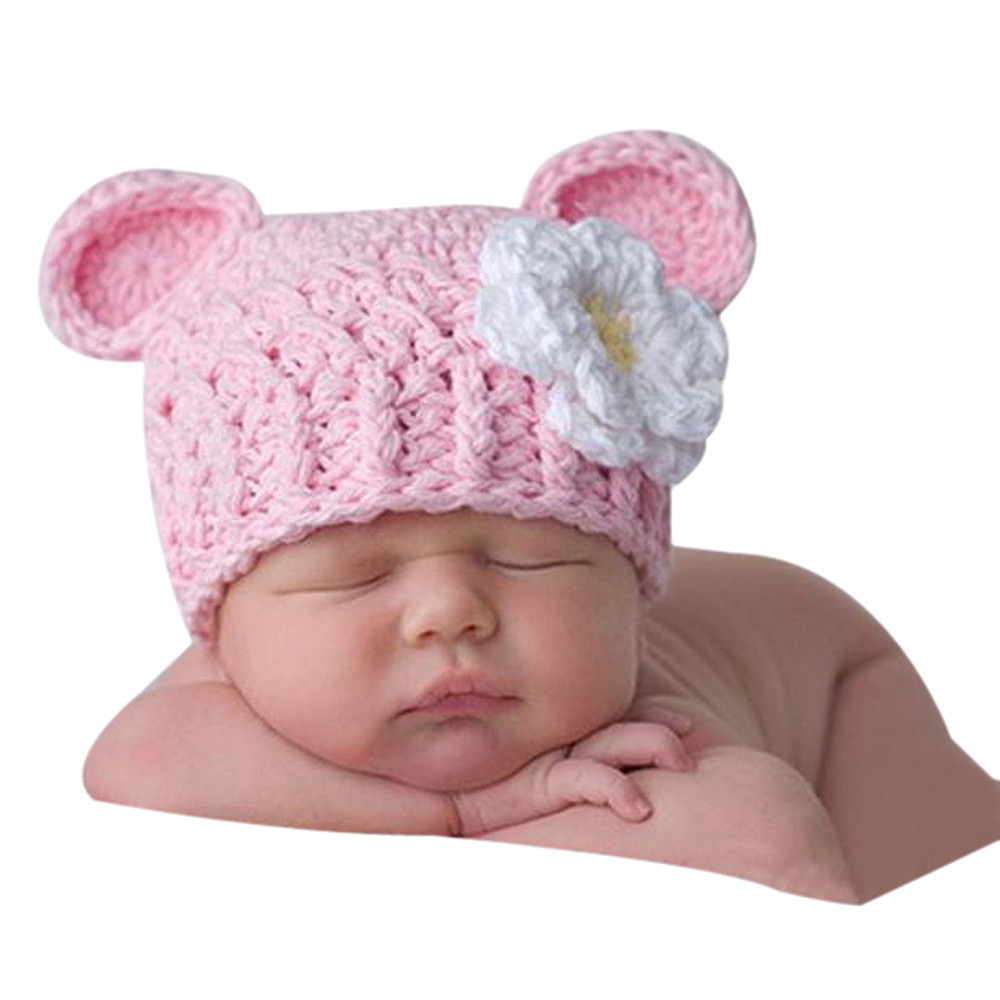 Modern Toddler Infant Baby Girl Winter Kids Warm Knitted Crochet Beanie Hat Cap Free Shipping Mar18(China (Mainland))