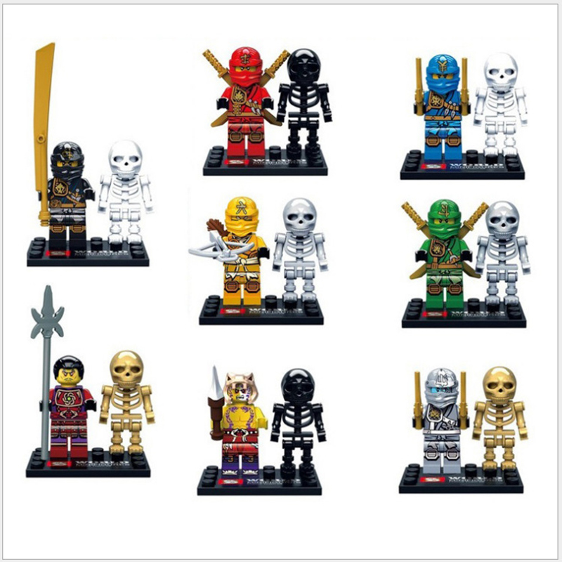 SY282 Ninjagoes Minifigures Skeletons hunder Sworosman Kai Jay Cole Super Heroes Weapon Compatible Legoes Building Blocks Gitf - COASTLINE TOY store