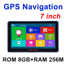 7 inch Car GPS Navigation Capacitive screen FM Built in 8GB/256M WinCE 6.0 Map Truck vehicle gps Navigator(China (Mainland))