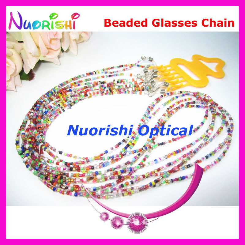6pcs Nice Beaded Steel Wire Rope Eyeglass Sunglasses Eyewear Spectacle Chain Cords Lanyard free shipping L852(China (Mainland))