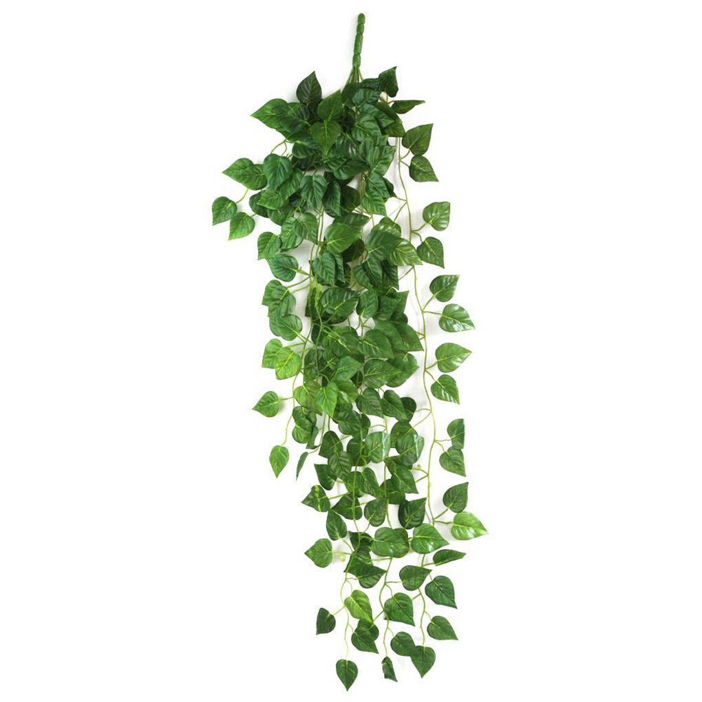 Artificial Fake Hanging Vine Plant Leaves Garland Home Garden Wall Decoration(China (Mainland))