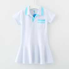 Buy 6 16 years kids & teenager big girls summer school uniform casual flare dresses children cotton casual dress clothes for $14.40 in AliExpress store