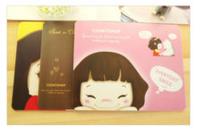 F16803/4/5 1 Piece PVC Mouse Pads, New Cute Girl Mouse Pad, Office Supplies 20.7 * 17.7cm(China (Mainland))