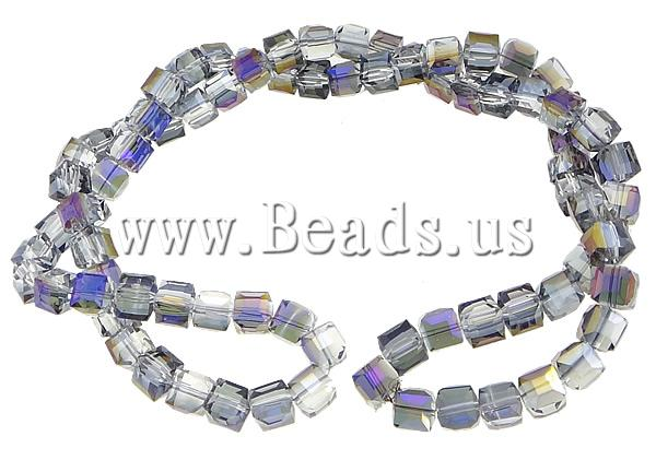 Free shipping!!!Cubic Crystal Beads,Female Jewelry, Cube, half-plated, faceted, 12x12x12mm, Hole:Approx 1.5mm, Length:32 Inch<br><br>Aliexpress