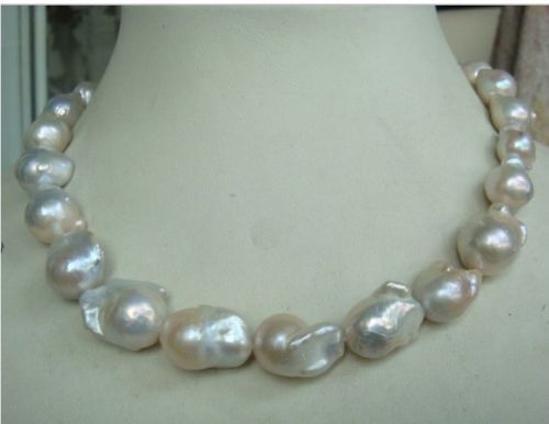 ddh003807 HUGE 1815-20MM AUSTRALIAN SOUTH SEA NATURAL WHITE NUCLEAR PEARL NECKLACE<br><br>Aliexpress