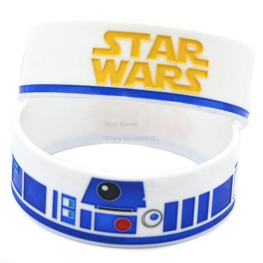 1PC Star Wars R2-D2 Debossed Silicone Wristband Bracelet for Fans(China (Mainland))