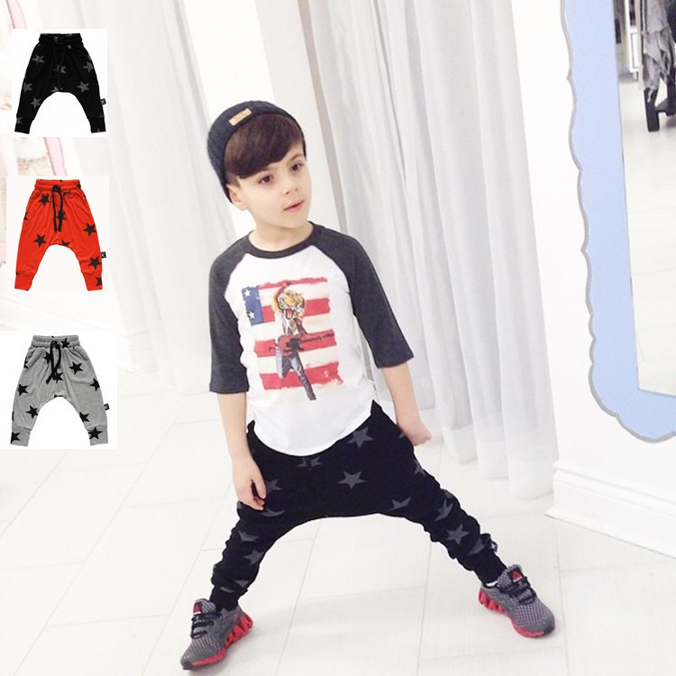 2016 New Fashion Clothes Baby Pants Boys Girls Harem Pants Soft Print Children Pants infant Trousers(China (Mainland))
