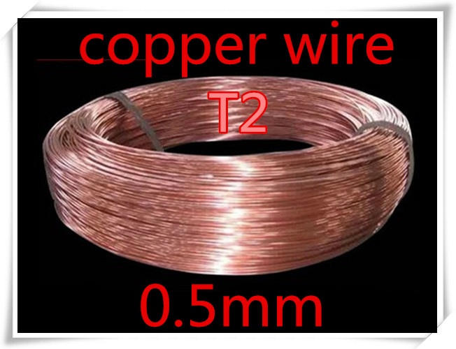 10meters 0.5mm Pure T2 copper wire, Industry Experiment DIY T2 copper wire<br><br>Aliexpress