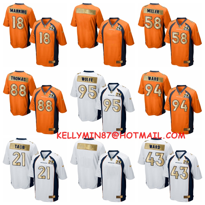 Denver Bronco,T.J. Ward,Chris Harris Jr,Peyton Manning,Von Miller,Demaryius Thomas,Brandon Marshall ,Aqib Talib,customizable,SB(China (Mainland))