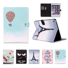 Lucky For Cover Apple iPad Air 2 (2014) PU Leather Flip Smart Stand Kids Tablet Cover Cases Screen Protective Film Gift