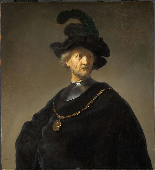 Canvas Art Prints Stretched Framed Giclee World Famous Artist Oil Painting Rembrandt Harmensz Van Rijn Old Man Gold Chain(China (Mainland))