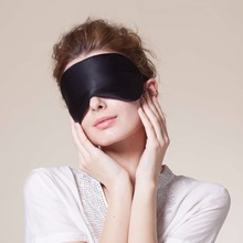 Hopeforth Natural Silk Sleep Mask Blindfold Super Smooth Eye Mask Eyeshade(China (Mainland))