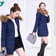 NEW Fashion Winter jacket Women Long Style Down & Parkas Coat Fashion Slim Casual Coat Warm Parka Plus Size  H195