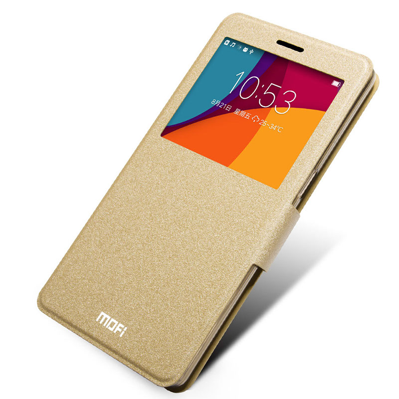 Luxury Leather Flip Cover Case With Stand For Oppo R7