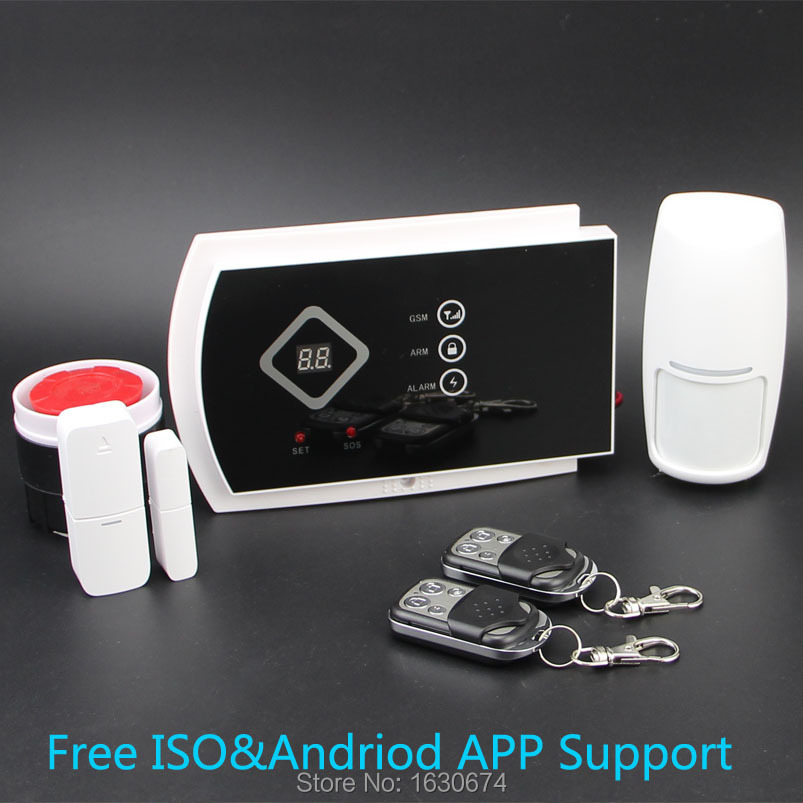 Wireless GSM Alarm System For Home security System with PIR/Door Sensor 850/900/1800/1900MHz Dual Antenna Two Year Warranty(China (Mainland))
