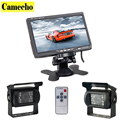 Dual Backup Camera and Monitor Kit For Bus Truck RV LED Night Vision Rearview Reverse Backup