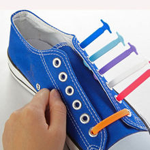 16Pc/Set 5 Colors Fashion Unisex Women Men Elastic Silicone Athletic Running No Tie Shoelaces Shoe Lace All Sneakers Fit Strap(China (Mainland))