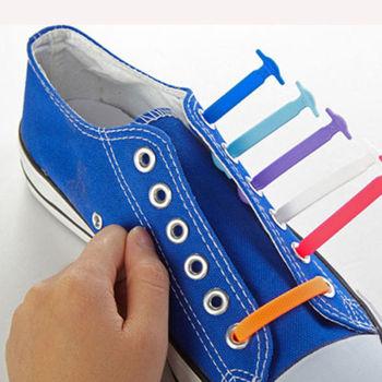 16Pc/Set 5 Colors Fashion Unisex Women Men Elastic Silicone Athletic Running No Tie Shoelaces Shoe Lace All Sneakers Fit Strap