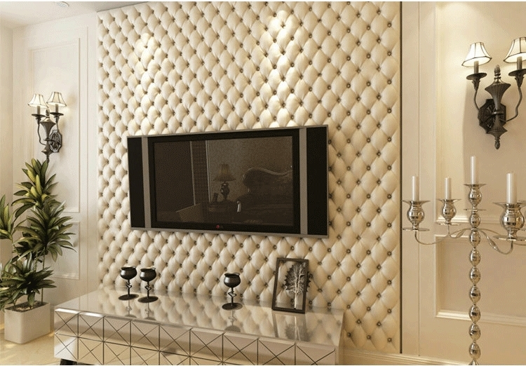 3d wallpaper leather texture luxury wall paper roll for for Papel de pared lavable