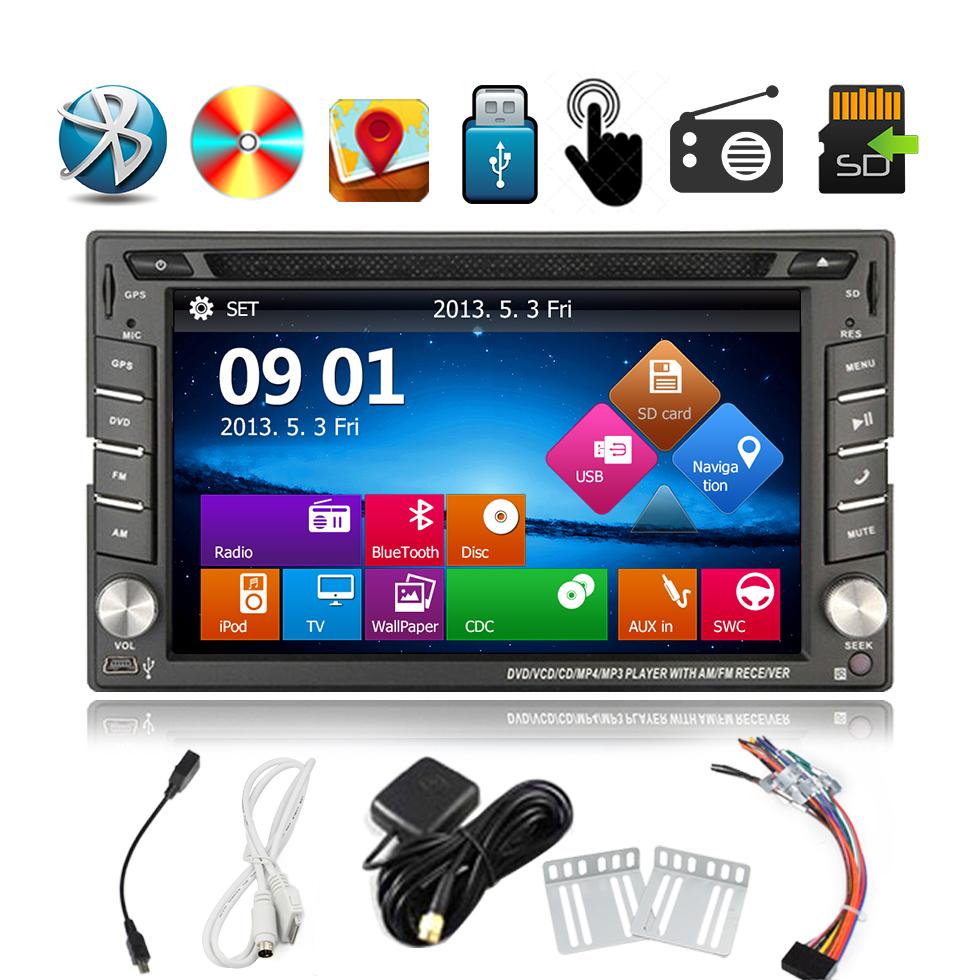 2din GPS Navigation Double 2 Din 6.2 inch Car Radio Stereo DVD video Player mp3 Bluetooth Ipod USB SD +Free Map Car HeadUnit(China (Mainland))