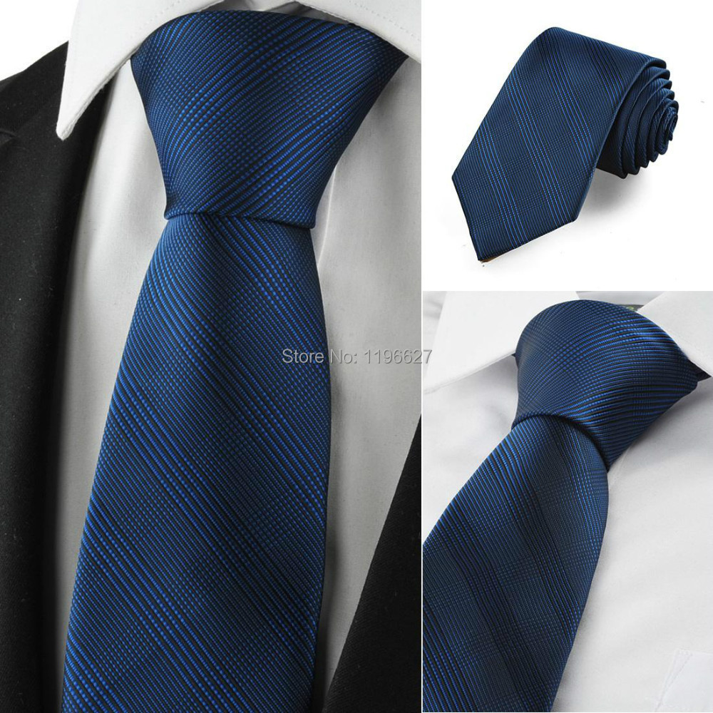 Mature Navy Blue Neckties Men Slim Striped Classic Jacquard Woven Neck Ties suit Commercial Formal Events Wedding Male Gift - xtopmall store