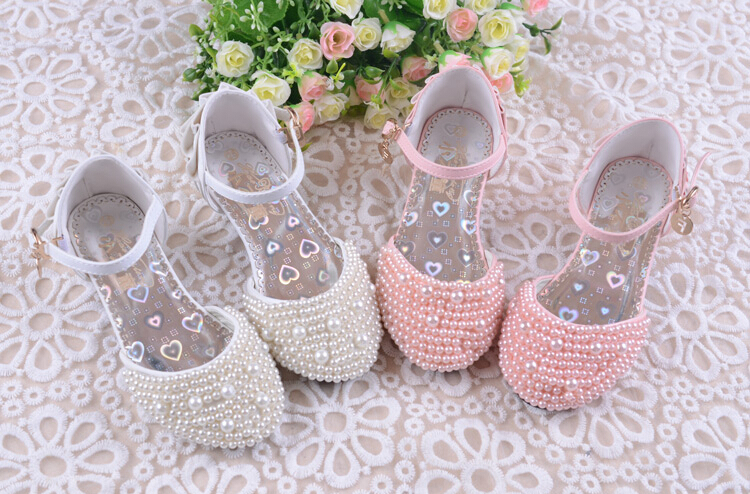 Free shipping, high quality Fashion Children Shoes Girls Shoes High Heel Girl Sandals White Wedding Shoes Kids Mary Jane Shoes(China (Mainland))