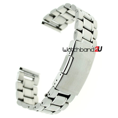 Stainless Steel Solid Links Watch Band Strap Bracelet Straight End 18mm,20mm,22mm,24mm - strap 2U store